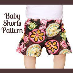 Baby Shorts Pattern  7 sizes  Newborn baby to 36 door mammacandoit