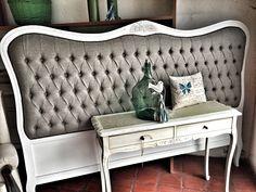 Respaldo provenzal capitone en lino gris, by La Tienda Deco&Ideas