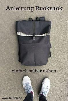 In meiner Anleitung erkläre ich euch, wie ihr einen einfachen Rucksack selber nähen könnt.