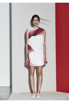 Resort 2014-  widowbird tee, print green-winged skirt, print by CAMILLA AND MARC