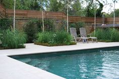 Outdoor swimming pool designed by Guncast