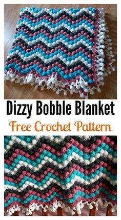 Dizzy Bobble Blanket Free Crochet Pattern