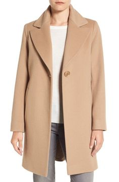 Fleurette Loro Piana Wool One-Button Coat available at #Nordstrom