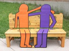 """A buddy bench! We have lots of benches on campus that don't get used all that much. We could turn one into a """"buddy bench."""" The assumption would be that if someone was sitting on one alone, they want someone to talk to so any passer by could accompany them on the buddy bench."""