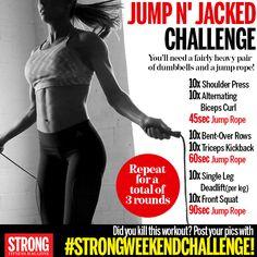 #strongweekendchallenge. GO!