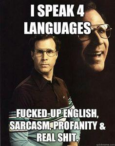 I speak 4 languages