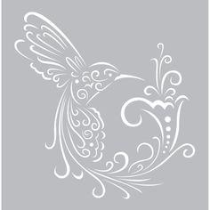 Fabscraps 8 x 8 Birds of Paradise Stencil - DS 033