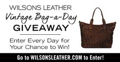 Wilsons Leather Vintage Bag-a-Day Giveaway {US}... IFTTT reddit giveaways freebies contests