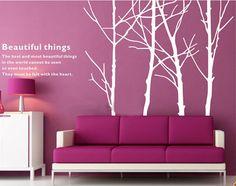 Tree wall sticker vinyl decal  White Birch Tree by Walldecorative, $49.99