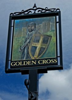 The Golden Cross (pub sign), 56 Unicorn Hill