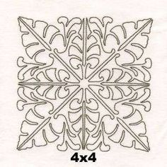 Free Embroidery Design: Tropical Foliage Quilt Block