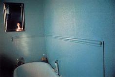 Self-Portrait in Blue Bathroom, London, 1980 by Nan Goldin on artnet Auctions