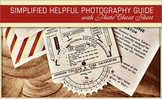VERY HELPFUL!  Simplified Helpful Photography Guide With Photo Cheat Sheet  (Most of the cheat sheets I've seen online all in one place!)