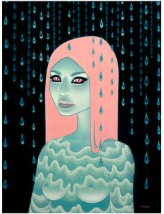 "love the color palate and style used to connect this series. ""Wandering Luminations"" Tara McPherson"