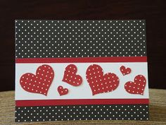 Valentine card making kit of 5 valentine wishes hearts love stampin