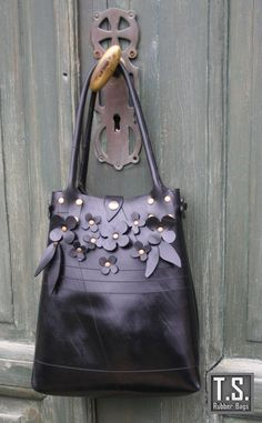 Recycle Rubber Flower Bag by TSRUBBER on Etsy, $92.00