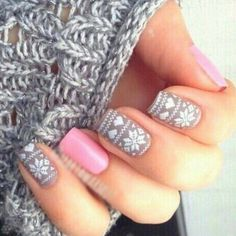 Sweater patterned nails