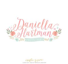 Custom Logo design PreDesigned / Watercolor Floral by IndieGrace