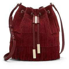 Vince Camuto Joni- Tiered Fringe Cross Body (€205) ❤ liked on Polyvore featuring bags, handbags, shoulder bags, sac, fringe purse, fringe crossbody, red cross body purse, crossbody shoulder bags and fringe handbags