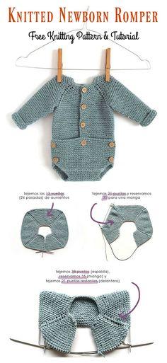 33f1ab801c02c Newborn Romper Free Knitting Pattern and Tutorial
