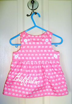 "The ""Secret Name"" Dress - Pink elephants - The Supermums Craft Fair"