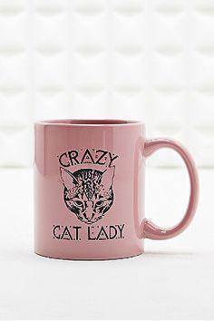 """Tasse mit """"Crazy Cat Lady""""-Aufdruck"""