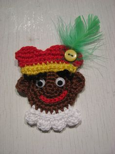 Crochet pattern zwarte piet by GeKleurdeDraadjes on Etsy Diy Crochet And Knitting, Crochet Videos, Crochet Motif, Crochet Hats, Knitting Projects, Knitting Patterns, Crafts For Kids, Arts And Crafts, Amigurumi