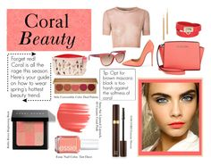 """Coral Beauty"" by madelynadams ❤ liked on Polyvore featuring beauty, Bobbi Brown Cosmetics, Stila, Anna Sui, Essie, Tom Ford, Michael Kors, Christian Louboutin, Salvatore Ferragamo and Jules Smith"