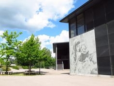 The facade of the Albert Edelfelt School illustrates four of Edelfelt's works in Graphic Concrete. The school is named after Albert Edelfelt one of the most prominent Finnish painters and artistic influencers, who also received international recognition. Finland, Facade, Concrete, Mansions, Architecture, House Styles, School, Building, Country