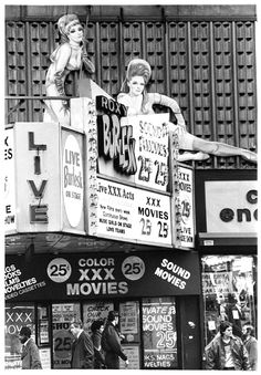 Vintage Photos Capture Times Square's Depravity in the and ~ vintage everyday Cinema Sign, 42nd Street, Girls In Love, Movies Showing, Historical Photos, Roxy, Vintage Photos, Growing Up, Life Magazine