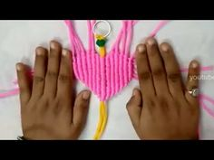 Heart Shape Macrame Keychain DIY - YouTube