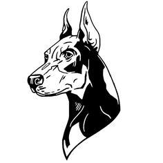 Doberman Pinscher Whole Body Car Sticker Tattoo Sketches, Tattoo Drawings, Art Drawings, Tattoo Flash Art, Tatoo Art, Tattoo Ink, Dog Tattoos, Black Tattoos, Dobermann Tattoo