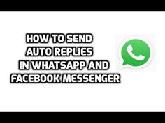How To Send Auto Replies in WhatsApp Facebook Messenger and Other Apps