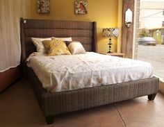 1000 Images About Fabric Covered Bed Frame On Pinterest