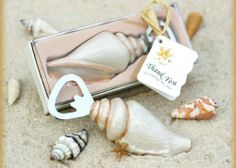 Shore Memories Sea Shell Bottle Opener with Thank you Tag (Set of 48) by Baby Shower Gifts  Wedding Favors. $102.50
