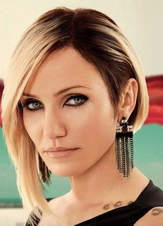Cameron Diaz Amazing Assymetrical Bob - this cut and colour is happening before I move back to Australia.
