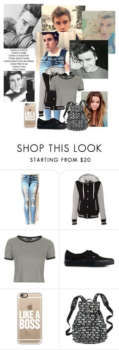 """""""Celebrity tag: Conner Franta"""" by riz-lane ❤ liked on Polyvore featuring moda, Topshop, Vans, Casetify y Rizstags"""