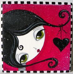 black heart girl by Megan K. Suarez,