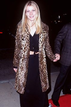 30+ Times '90s Gwyneth Paltrow Was Our Style Crush #refinery29 http://www.refinery29.com/2016/03/106619/gwyneth-paltrow-lookbook-throwback-90s-fashion#slide-6 From Dusk Till Dawn Premiere, 1996Proof that a leopard print coat and black two-piece is always a winner. ...