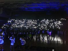 Black out pep a rally