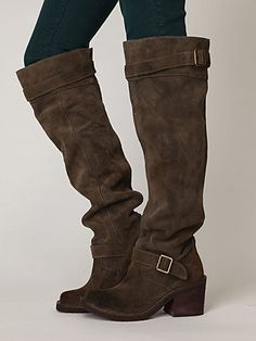 Need this for this next winter <3 Morgan Suede Tall Boot-
