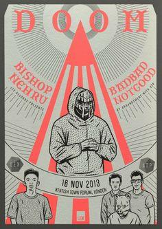 MF Doom gig poster #mfdoom #gigposter