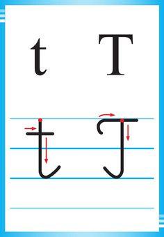 Alfabet polski, pisany dla dzieci do druku 35 Polish Alphabet, Kids Learning, Preschool, Letters, Math Equations, Writing, Education, Improve Handwriting, Speech Language Therapy