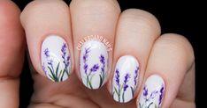 Lavender Blossoms Floral Nail Art | Chalkboard Nails | Nail Art Blog