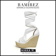 Espadrilles Ramirez Nikka verano 2015 modelo Valentina Blanc disponible en tienda Ramirez Peru 587 y en nuestro Showroom Humboldt 1550 of 111 #ramirez #nikka #crueltyfree #espadrilles #carmen #zapatos
