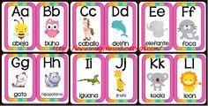 Abecedario animales formato tarjetas imprimibles