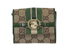 54576a6e57f7 Tan Gucci Logo Canvas Wallet