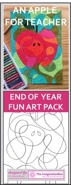 A fun, creative apple themed art resource pack for the End of Year. This detailed apple themed art activity pack has been designed to enthuse and engage children in a fun, experimental way. The templates and worksheets aim to encourage the exploration of color, shape, abstract pattern, and graphic design, whilst also providing colorful, apple inspired decor for the classroom, home or summer camp.