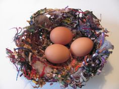 The Chocolate Muffin Tree: Colorful Bird Nest Creation