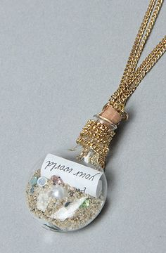 The Little Mermaid Collection Message in the Bottle Necklace : Disney Couture Jewelry